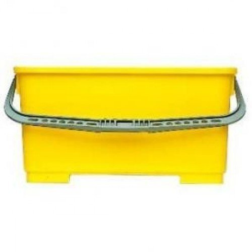 Builders Bucket - Oblong Yellow Bucket 9 Ltr for Window Cleaners Builders and Contractors by Ettore