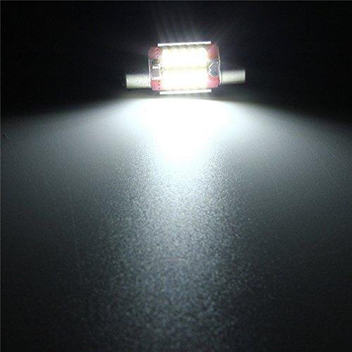 Pack of 10 FEZZ Car LED Interior Light Bulbs Festoon 36mm C5W C10W CANBUS NO ERROR 4014 12SMD