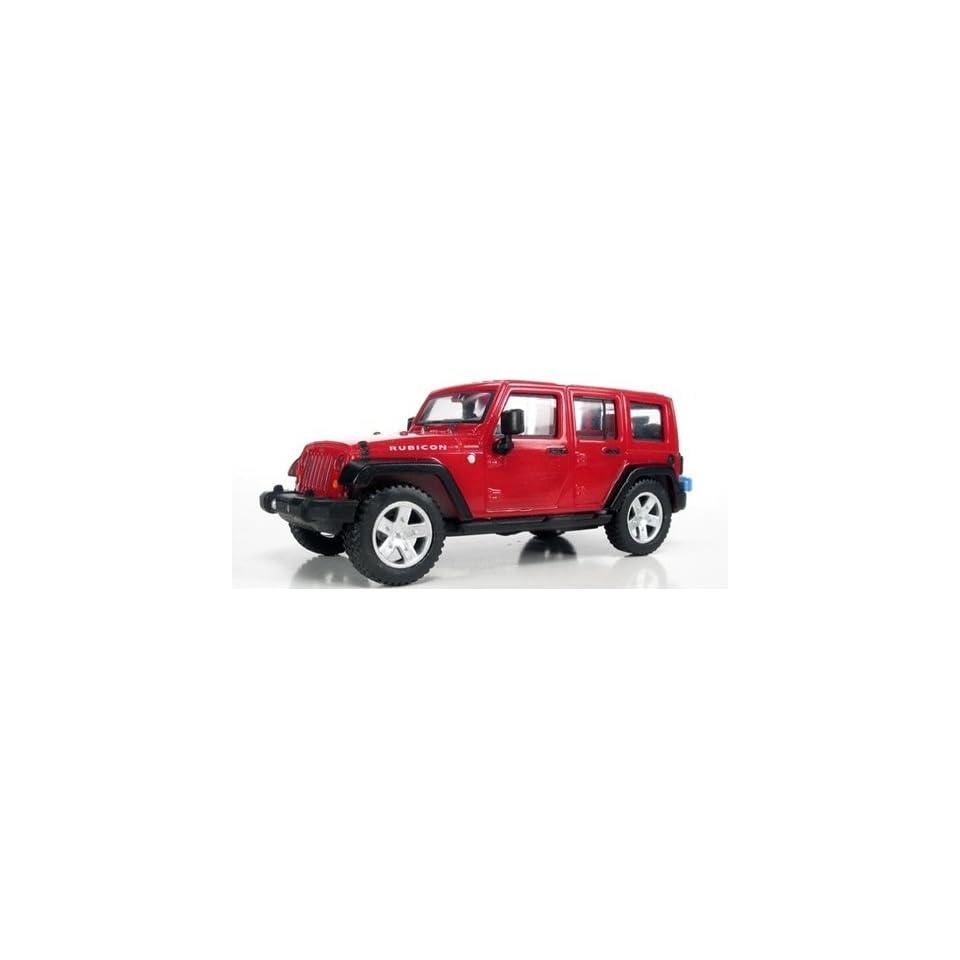 HO 2007 Jeep Wrangler 4 Door Unlimited (Red) Atlas Trains