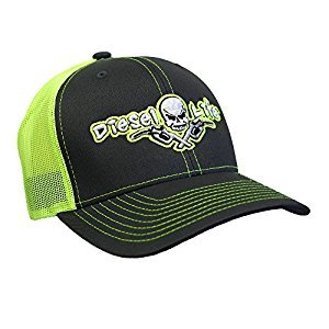 Diesel Life Snap Back Hat - Charcoal / Neon Green