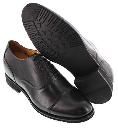 Toto H252112-3 Pouces De Hauteur - Hauteur Augmentant Les Chaussures Dascenseur (noir Lacet-toe-toe)