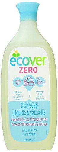 Ecover Dish Soap Liquid Zero, Fragrance Free, 25 Fluid Ounce ()