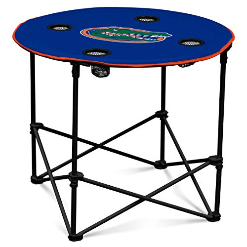 (Florida Gators Collapsible Round Table with 4 Cup Holders and Carry Bag)