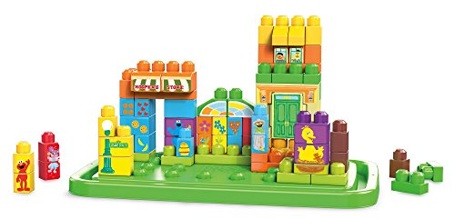 (Mega Bloks Sesame Street Let's Build Sesame Street)
