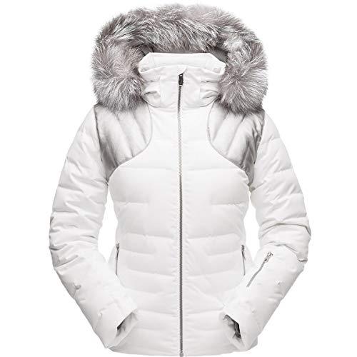 Spyder Falline Real Fur Ski Jacket, White/Silver, 4