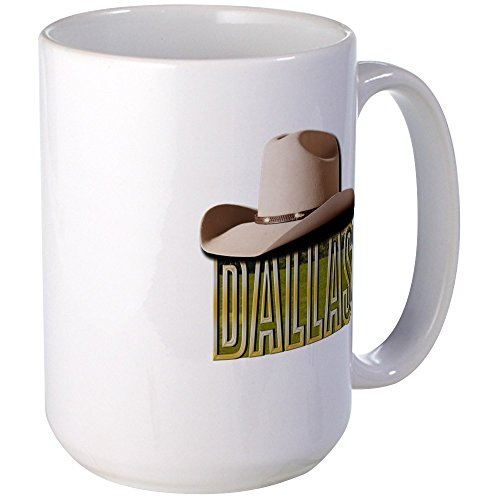 Used, CafePress - Dallas w Hat 2 Large Mug - Coffee Mug, for sale  Delivered anywhere in USA