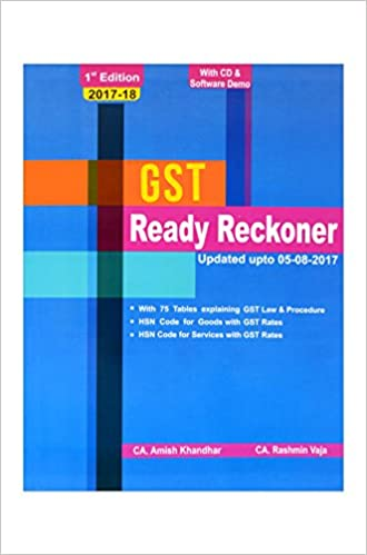 Buy Gst Ready Reckoner Gst Book In Tabular Format Contains Hsn Code