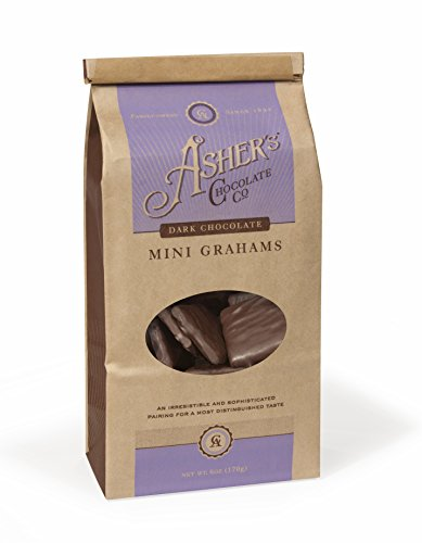 Asher's Chocolate Co. Dark Chocolate Mini Grahams, 6 oz. (Chocolate Covered Jalapenos)