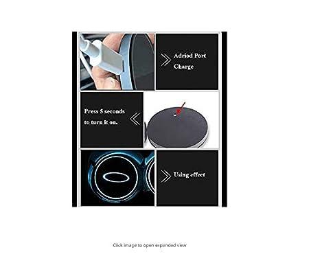 Ephvan LED Car Logo Cup Holder Pad 7 Colors Changing USB Charging Mat LED Cup Mat Car Atmosphere Lamp Decoration Lights 2PCS Volvo