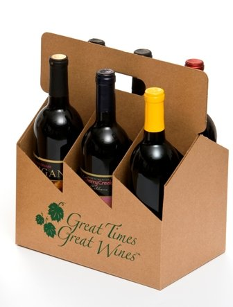 6pk Open Wine Carrier - Printed by Brick