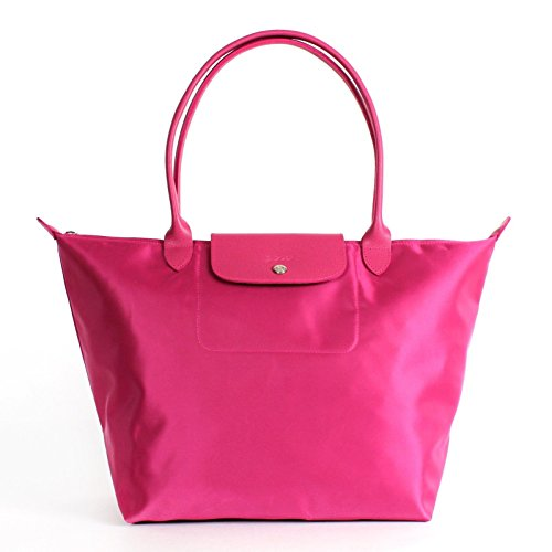 Longchamp, Borsa tote donna Rosa rosa