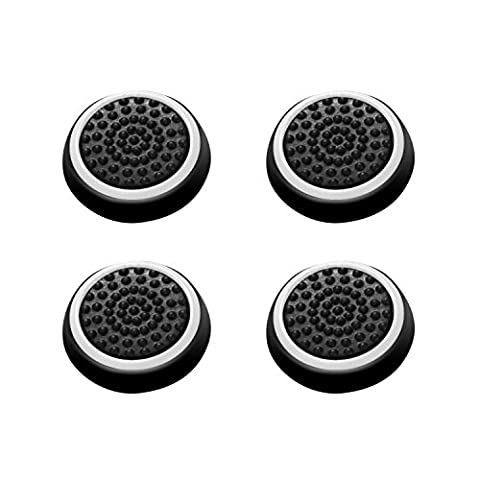 Insten [2 Pair / 4 Pcs] Wireless Controllers Silicone Analog Thumb Grip Stick Cover, Game Remote Joystick Cap for PS4 Dualshock 4/ PS3 Dualshock 3/ PS2 Dualshock/ Xbox One/ Xbox 360, (Ps4 Extender Thumb Sticks)