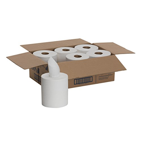 SofPull Centerpull Regular Capacity Paper Towel by GP PRO (Georgia-Pacific), White, 28124, 320 Sheets Per Roll, 6 Rolls Per Case ()