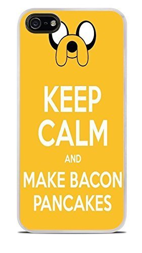 Keep Calm and Make Bacon Pancakes White Hardshell Case for iPhone 5 / 5S