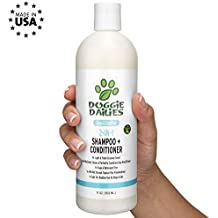 Doggie Dailies Shampoo for Dogs: 2-in-1 Dog Shampoo and Conditioner, Effectively Cleans, Conditions, and Moisturizes Skin & Coat, Natural Dog Shampoo for Dry and Itchy Skin, Made in The USA