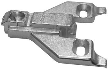 Nickel Finish Pack of 20 Blum 175L6600.22x20S 0 mm Die Cast Screw on Face Frame Mounting Plate