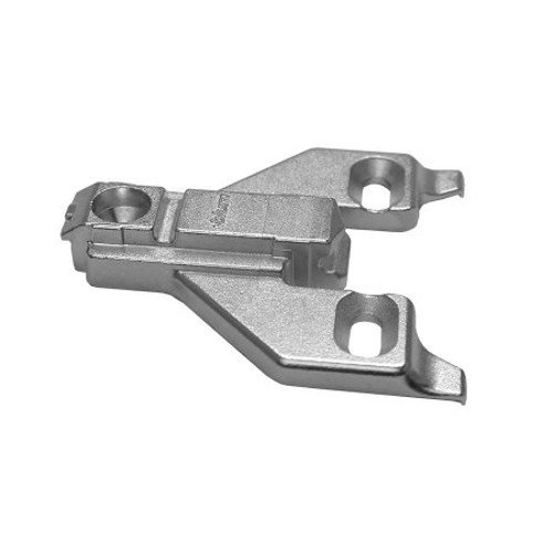 Blum 175L6600 22x2 0 mm Die Cast Screw on Face Frame Mounting Plate, Nickel  Finish (Pack of 2)