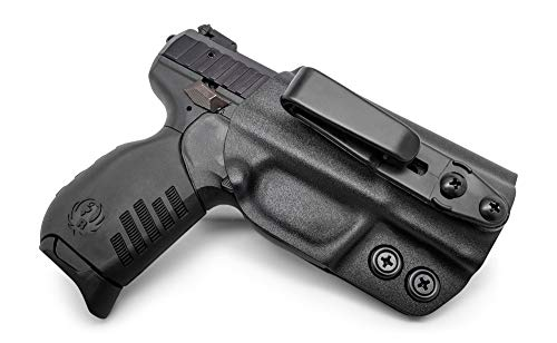 (Concealment Express Tuckable IWB KYDEX Holster fits: Ruger SR22 (BLK) - Ambidextrous - Adjustable Cant & Ride Height - US Made)
