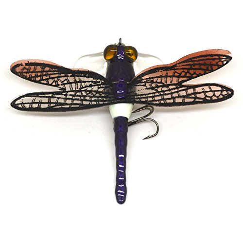 Popper Fishing Bait Lure Life-Like Dragonfly Floating Fly Fishing Flies New (C)