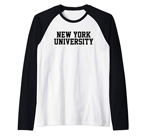 (New York University NYU Violets NCAA NYUV1006 Raglan Baseball Tee)