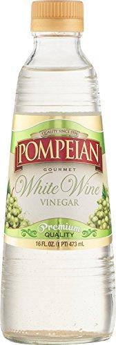 Pompeian Gourmet White Wine Vinegar, 16 oz