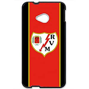 Rayo Vallecano Logo Phone Case for Htc one m7 3D Hard Black Plastic Cover