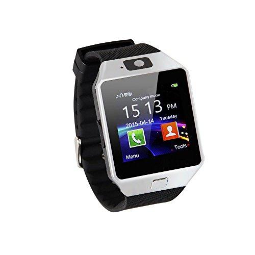 2016Hot Smart Watch Bluetooth Telefonieren 2.0MP Kamera Unterstützung Nachricht Benachrichtigung TF Karte Schrittzähler Schlaf Monitor kompatibel mit Android/Samsung/HTC SMI/TF