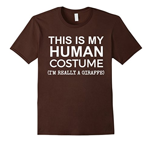 Mens This is My Human Costume, Really a Giraffe T-shirt Halloween XL (Costume Ideas For Short People)