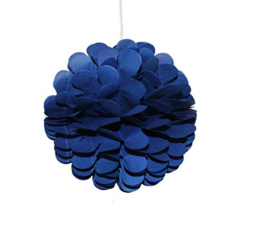 Dailygo 10Pcs 8 inch Party Honeycomb Balls Art Hanging Pom Poms Tissue Paper Balls Wall Backdrop Decoration Party Design Flower Balls Party Wedding Birthday Nursery Home Baby Shower Decor (Royal Blue)