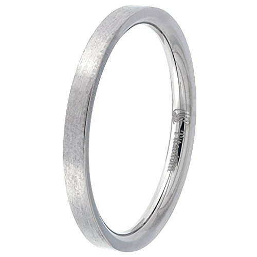 Titanium Wedding Stackable Brushed Comfort