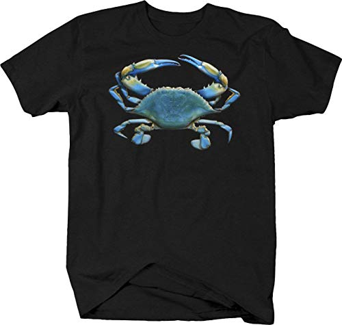 Blue Crab Deep Sea Ocean Fishing Seaside Fish Aquatic Sand Beach Tshirt - 4XL