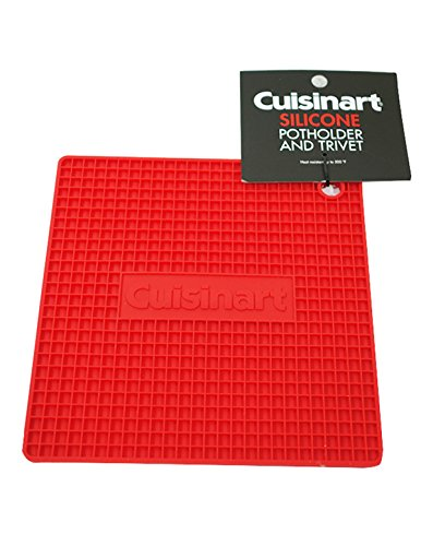 Cuisinart Silicone Potholder and Trivet, Red, 2-Pack
