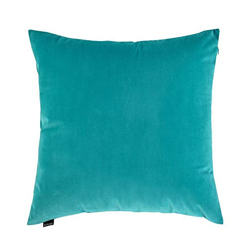 Artcest Cozy Solid Velvet Throw Pillow Case, Decorative Couch Cushion Cover, Soft Sofa Euro Sham with Zipper Hidden, 24