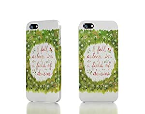 Apple iPhone 4 / 4S Case - The Best 3D Full Wrap iPhone Case - typography daisies