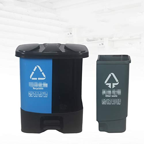 Trash can Trash Can Classified Waste Bucket Indoor Outdoor Classified Splicing Trash Can Waste Bin (Color : 40L)