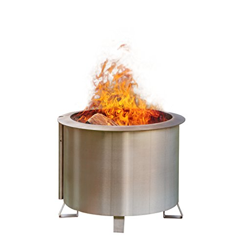American Made Patio Furniture (Patio Fire Pit | Smoke-Reducing, Portable, 304 Stainless Steel, 100% American Made by Double Flame)