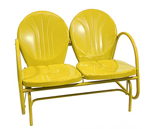Rich Pacific Sunshine Yellow Retro Metal Tulip Double Glider Review
