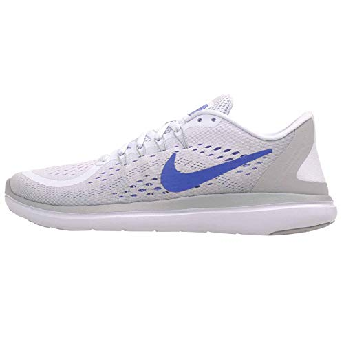 Nike Women's Flex 2017 RN Running Shoe (8.5 M US, Football Grey/Hyper Royal/Wolf Grey)