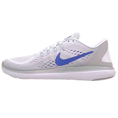 Nike Women's Flex 2017 RN Running Shoe Football Grey/Hyper Royal/Wolf Grey Size 9.5 M US