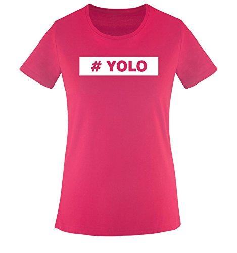 Comedy Shirts Shirt taglia T fucsia vari XS colori Donna maglietta XXL YOLO bianco frrxwqId