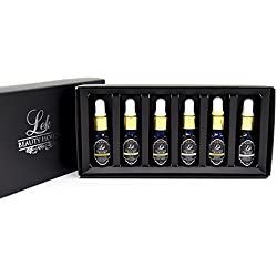 Aroma Therapy Top 6 Scented Essential Oil Premium Grade set of 6/10 ML.(Pine, Lemongrass, Cedarwood, Orange, Eucalyptus and Lemon)