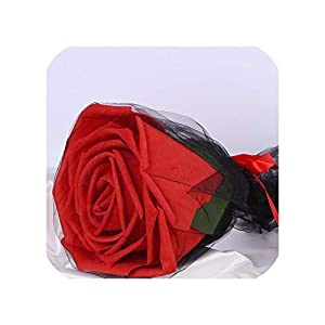 wen-ding artificial-flowers Large Foam Roses with Stems Giant Flower Head Birthday Gift Present Wedding Backdrop Decor,red Rose 6