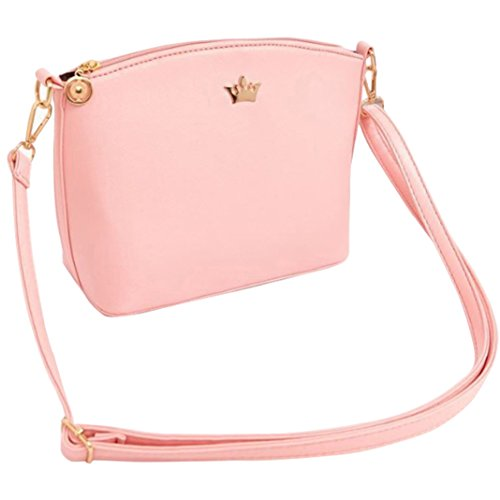 pengyu - Bolso mochila  para mujer Rosa