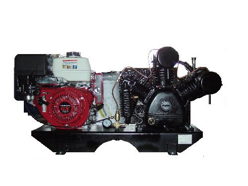 Puma Air Compressors TUK-130HGE Tankless 2-Stage Truck Mount Air Compressor, 13hp Honda GX Engine with Electric Start