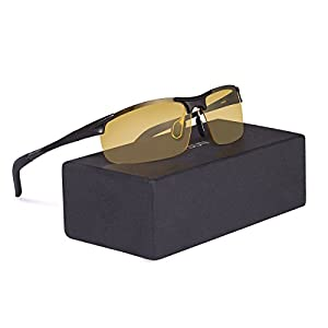 Men's Night Vision Glasses RAYSUN HD Polarized Anti-Glare Driving sunglasses
