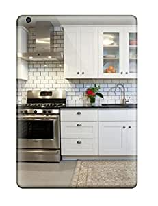 New Style Case Cover GuwOsJV9775MltoJ Kitchen With White Subway Tile Backsplash And Rug Compatible With Ipad Air Protection Case