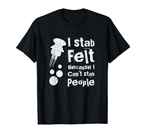 Funny Needle Felting T-Shirt for Women and Men ()