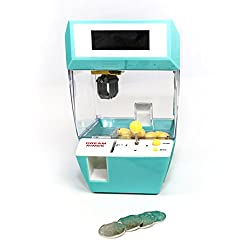 eSmart Electronic Claw Game Toy Grabber Candy Catcher Alarm Clock (Turquoise)