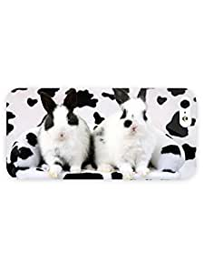 3d Full Wrap Case For Sam Sung Galaxy S5 Cover Animal Black And White Rabbits