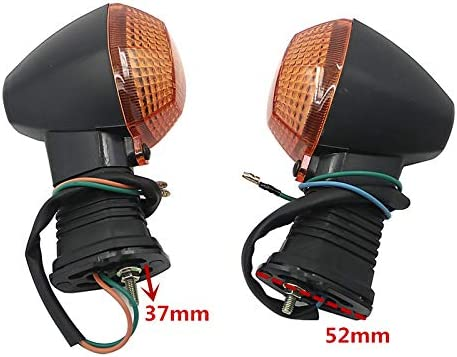 Without brand KF-Turn Couleur : 2 Orange 2pcs Moto Clignotants Lumi/ère Avant//arri/ère Clignotants Fit for Suzuki SV650 N S SV1000 SFV 650 Gladius DRZ 400 SM 2005-2019